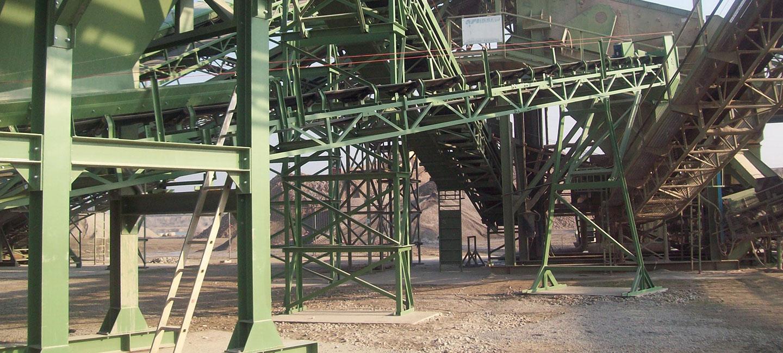 Verzinkte Förderbänder der Serie S5 in Baukastensystem und mit Eckprofilen